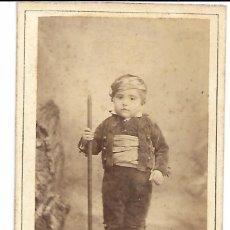 Fotografía antigua: 1885 CA FOTOGRAFÍA ANTIGUA ALBUMINA CDV 77X126MM FOTÓGRAFO JULIO DERREY (VALENCIA). Lote 125470515
