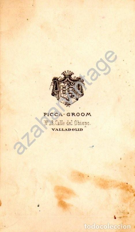 Fotografía antigua: VALLADOLID, SIGLO XIX, CDV DE UNA SEÑORA VALLISOLETANA, PROBABLEMENTE PROFESORA, PICCA-GROOM - Foto 2 - 125847699