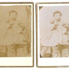 Fotografía antigua: 1880 CA 2 FOTOGRAFÍAS ANTIGUAS ALBUMINA CDV 60X105MM FOTÓGRAFO LA REGENTE (VALENCIA). Lote 127156823