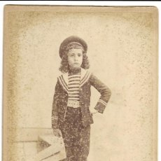 Fotografía antigua: 1880'S CA FOTOGRAFÍA ANTIGUA ALBUMINA CDV GRAN FORMATO 105X165MM FOTÓGRAFO A GARCÍA PERIS (VALENCIA). Lote 127158967