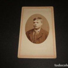Fotografía antigua: SALAMANCA LOS ITALIANOS FOTOGRAFOS CARTE DE VISITE RETRATO DE JOVEN HACIA 1880-1890. Lote 128149927