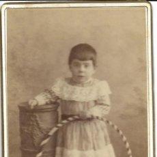 Fotografía antigua: 1880 CA FOTOGRAFÍA ANTIGUA ALBUMINA CDV 60X105MM FOTÓGRAFO L SANCHEZ VALENCIA. Lote 128391215