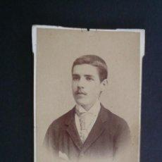 Fotografía antigua: CARTE DE VISITE FOTOGRAFIA. M. REY. MALAGA 57. Lote 221819347