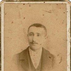 Fotografía antigua: FTO. PIEZA RARA. C.V. RETRATO FRONTAL DE CABALLERO. CA. 1890-1895. FOT: V. NOVILLO. HARO. LA RIOJA.. Lote 129322307
