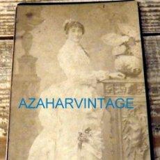 Fotografía antigua: SEVILLA, SIGLO XIX, ESPECTACULAR CDV DE UNA DAMA SEVILLANA, FOT.RODRIGUEZ,100X190MM. Lote 129974759