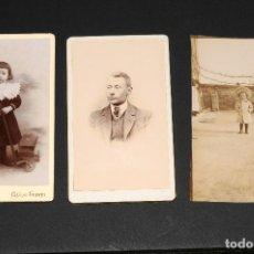 Fotografía antigua: LOTE DE 3 FOTOGRAFÍAS ANTIGUAS. Lote 130538134