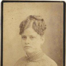 Fotografía antigua: 1880CA FOTOGRAFÍA ANTIGUA ALBUMINA CDV 60X105MM FOTÓGRAFO ANTONIO GARCÍA PERIS (VALENCIA). Lote 130752224