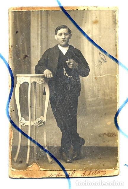 FOTO F BARTLIER ET FILS 1884 DECAZEVILLE CDV CON REVERSO Fotografia Antigua