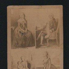 Fotografía antigua: MONARQUIA FRANCESA.FOTOGRAFIA DE PERSONAJES REALES FRANCESES DIBUJADOS.LOUIS XVI.MARIE ANTOINETTE.. Lote 131185448