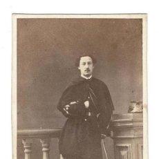 Fotografía antigua: LA CORUÑA ESTUDIO FOTOGRÁFICO DE SELIIER Y AVRILLON. MILITAR. . Lote 131720802