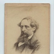 Fotografía antigua: CHARLES DICKENS - 1812-1870. FOTO CDV SIN DATOS REVERSOS. Lote 132569574