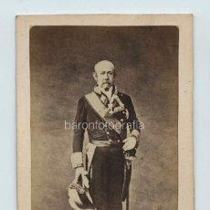 Fotografia antica: EL GENERAL RAMÓN NARVÁEZ, DUQUE DE VALENCIA, VER REVERSO CON DATOS ESCRITOS. Lote 132573994