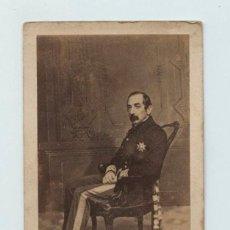 Fotografía antigua: EL CAPITÁN GENERAL DE LA CONCHA, MARQUÉS DEL DUERO. FOTO DISDERI , PARÍS. CDV. Lote 132688726