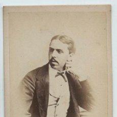 Fotografía antigua: CARLOS VII. CARLOS DE BORBÓN. DUQUE DE MADRID. FOTO CDV. CARLISMO. Lote 132689310