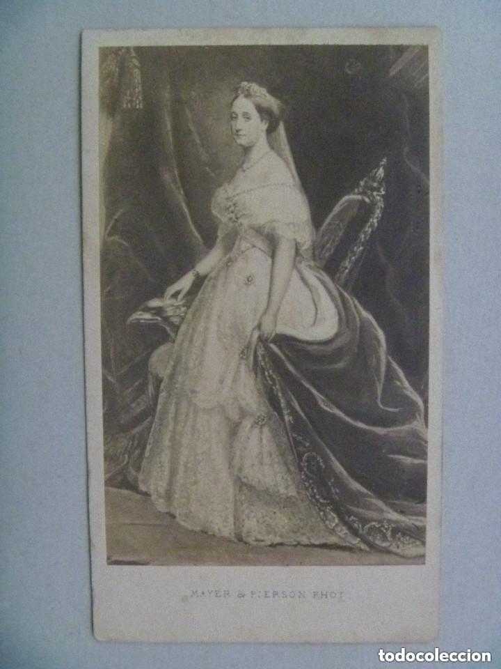 CDV DE LA EMPERATRIZ DE FRANCIA EUGENIA DE MONTIJO, SIGLO XIX . DE MAYER & PIERSON, PARIS (Fotografía Antigua - Cartes de Visite)