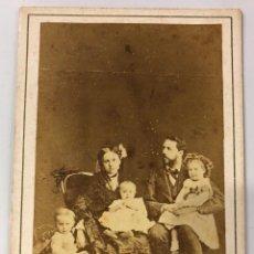 Fotografía antigua: RETRATO DE DON CARLOS Y FAMILIA. CARLISMO. CARLISTA. . Lote 134301254