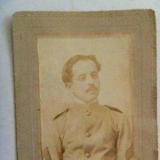 Fotografía antigua: GUERRA DE CUBA : CDV DE UN MILITAR , CABO , SIGLO XIX . DE SAINZ , LA HABANA. Lote 134333134