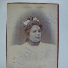 Fotografía antigua: CARTA DE VISITA. SELLO OJEDA PÉREZ LAS PALMAS (10 X 6,5 CM) . Lote 134829314