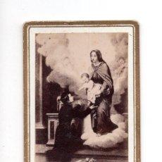 Fotografía antigua: CARTES DE VISITE.- CON VIRGEN Y NIÑO. Lote 135344322