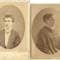 Fotografía antigua: 1879 LOTE 2 FOTOGRAFÍAS ANTIGUAS ALBÚMINA CDV 100X155MM PROCEDENCIA VALENCIA / ALCOY. Lote 137864362