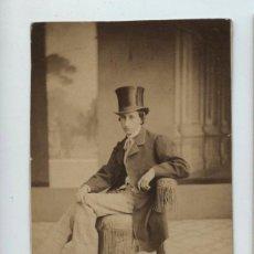 Fotografía antigua - Personaje por identificar, foto: Angel Alonso Martinez y hermano, Madrid. CDV s. XIX - 140192746