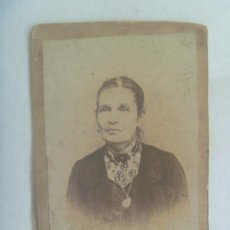Fotografía antigua: CDV DE SEÑORA ESPAÑOLA DEL SIGLO XIX. DE ALBERTO DEL CASTILLO, JEREZ. Lote 140281394