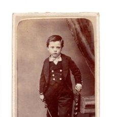 Fotografía antigua: CARTES DE VISITE. ESTUDIO FOTOGRÁFICO. JUAN HORTELANO. VALLADOLID. 1875. Lote 140286402