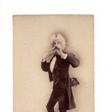 Fotografía antigua: RARA CARTES DE VISITE. ESTUDIO FOTOGRÁFICO. ESPLUGAS. BARCELONA - CARNAVAL 1876. Lote 140443586