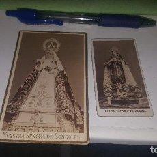 Fotografía antigua: NUESTRA SEÑORA DE SONSOLES Y STA. TERESA DE JESUS, AVILA, 10,5 X 6,5 Y 8 X 4 CM.. Lote 143579984