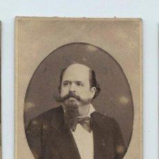 Fotografía antigua: MANUEL FERNÁNDEZ CABALLERO (MURCIA 1835-MADRID 1906) COMPOSITOR DE ZARZUELAS, FOTO: E.JULIÁ, MADRID. Lote 140660918