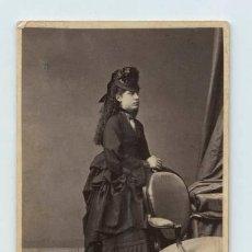 Fotografía antigua: RETRATO FEMENINO, AO 1871. FOTO: OTERO, MADRID. CDV. Lote 140806854