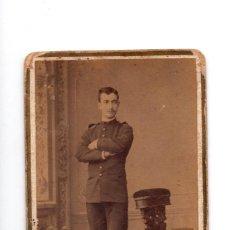 Fotografía antigua: CARTES DE VISITE. ESTUDIO FOTOGRÁFICO. JUAN. MON. MADRID - MILITAR. Lote 140902578