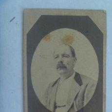 Fotografía antigua: CDV DE SEÑOR DEL SIGLO XIX. Lote 140940534