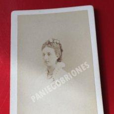 Fotografía antigua: MARIA CRISTINA DE ORLEANS INFANTA DE ESPAÑA - HIJA DE DUQUE DE MONTPENSIER - CDV - 1879. Lote 141565442