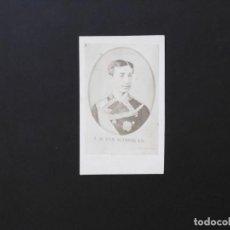 Fotografía antigua: ALBÚMINA DE ALFONSO XII - CDV. Lote 142019682