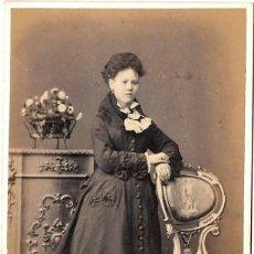 Fotografía antigua: 1860CA FOTOGRAFÍA ANTIGUA ALBUMINA CDV 60X105MM FOTÓGRAFO ANTONIO GARCÍA PERIS (VALENCIA). Lote 142116722