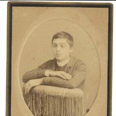 Fotografía antigua: 1880'S FOTOGRAFÍA ALBUMINA CDV CARTE DE VISITE 110X165MM CABINET. FOTÓGRAFO TOMÁS COLUBI (VALENCIA). Lote 142119702