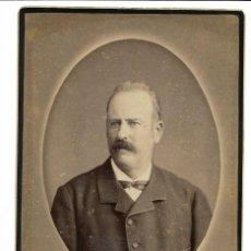 Fotografía antigua: 1880'S FOTOGRAFÍA ANTIGUA ALBUMINA CDV 110X165MM GRAN FORMATO. FOTÓGRAFO GENISCAS Y CIA (VALENCIA). Lote 142119734