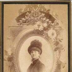 Fotografía antigua: 1880'S FOTOGRAFÍA ANTIGUA ALBUMINA CDV 110X165MM GRAN FORMATO. FOTÓGRAFO L. SÁNCHEZ Y CIA (VALENCIA). Lote 142119834
