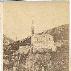 Fotografía antigua: 1872 FOTOGRAFÍA ALBUMINA CDV 60X105MM SANTUARIO GRUTA NUESTRA SEÑORA VIRGEN LOURDES FRANCIA. Lote 142210166