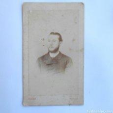 Fotografía antigua - RETRATO CABALLERO FOTÓGRAFO M. DE HEBERT MADRID 1868 - 143067352
