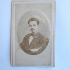 Fotografía antigua - CARTE DE VISITE FOTOGRAFÍA DE UN CABALLERO SIGLO XIX - 143074169