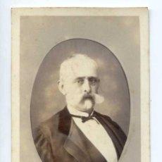 Fotografía antigua: RETRATO DE CABALLERO. SELLO EN SECO, PAVÓN Y GÓMEZ, FOTÓGRAFO, SEVILLA. Lote 144643138