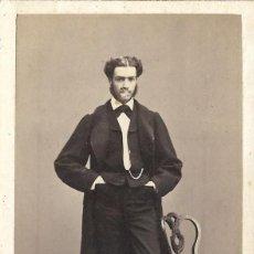 Fotografía antigua: 1864-65 CA FOTOGRAFÍA ANTIGUA ALBUMINA CDV 60X105MM ÁNGEL ALONSO MARTÍNEZ MADRID. Lote 144667566