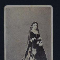 Fotografía antigua: CARTE DE VISITE-FOTOGRAFIA DE L.PERINI, VENECIA-RETRATO MUJER, SIGLO XIX-10,5X6 CM. Lote 144996946