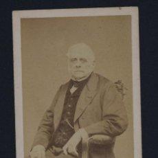 Fotografía antigua: CARTE DE VISITE-FOTOGRAFIA LEGÉ & BERGEREN, SIGLO XIX-RETRATO HOMBRE-10,5X6 CM.. Lote 144997718