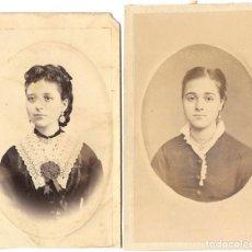 Fotografía antigua: 1870'S LOTE 2 FOTOGRAFÍAS ANTIGUAS ALBÚMINA CDV 60X105MM PROCEDENCIA ARCHIVO VALENCIA / ALCOY. Lote 146299358