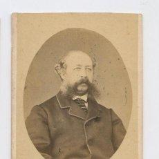Fotografía antigua: PERSONAJE CÉLEBRE, NOMBRE REVERSO ILEGIBLE. CDV. Lote 147544054