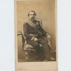 Fotografía antigua: NAPOLEÓN III, FOTO CDV MAYER AND PIERSON, PARÍS.. Lote 147548130