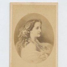 Fotografía antigua: EMPERATRIZ , NOMBRE REVERSO, FOTO DUSACQ, PARÍS.. Lote 147548914
